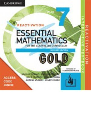 Essential Mathematics GOLD For The Australian Curriculum: 7 - Student Reactivation Code *