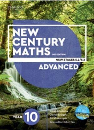 New Century Maths 10 Advanced Stages 5.2-5.3 [Text, NelsonNet + Workbook] - 9780170302715