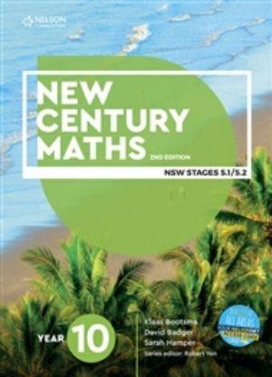 New Century Maths 10 Stages 5.1-5.2 [Text, NelsonNet + Workbook] - 9780170302708
