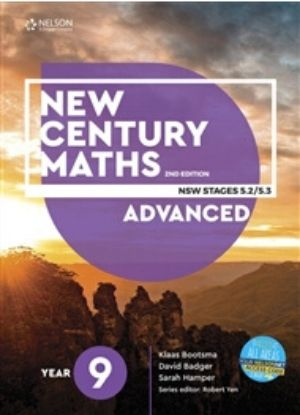 New Century Maths 9 Advanced Stages 5.2-5.3 [Text + NelsonNet] - 9780170453325