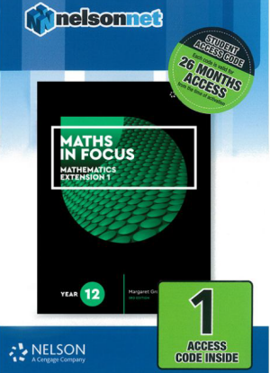 Maths in Focus:   Mathematics Extension 1 - Year 12 [NelsonNet Only]