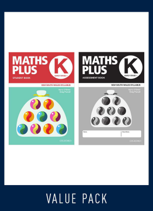 Maths Plus NSW:   K - Student and Assessment Book Value Pack- 2020