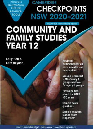 Cambridge Checkpoints:  NSW Community & Family Studies - Year 12 (2020-2021)