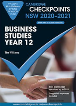 Cambridge Checkpoints:  NSW Business Studies - Year 12 (2020-2021)