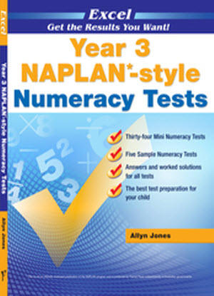 Excel Naplan*-Style  Numeracy Tests:  Year 3