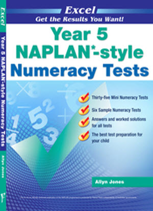 Excel Naplan*-Style  Numeracy Tests:  Year 5