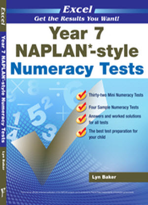 Excel Naplan* Style Numeracy Tests: Year 7