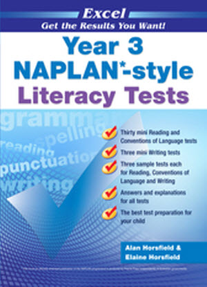 Excel Naplan*-Style  Literacy Tests:  Year 3