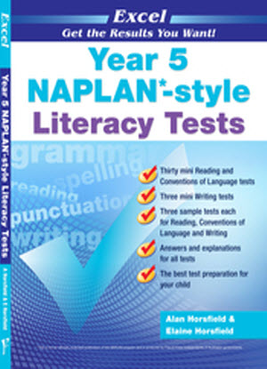 Excel Naplan*-Style Literacy Tests:  Year 5