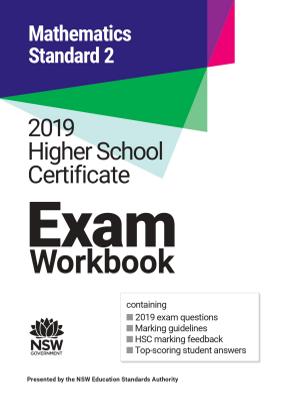 2019 HSC Exam Workbook:  Mathematics Standard 2