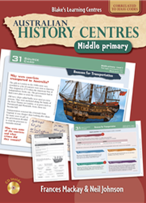 Australian History Centres:  Middle Primary + CD