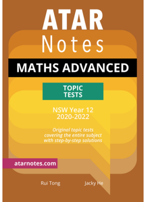 ATARNotes:  Mathematics Advanced - Topic Tests NSW Year 12 (2020-2022)