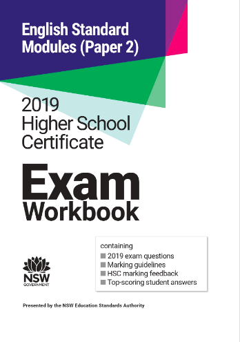 2019 HSC Exam Workbook:  English Standard Modules (Paper 2)