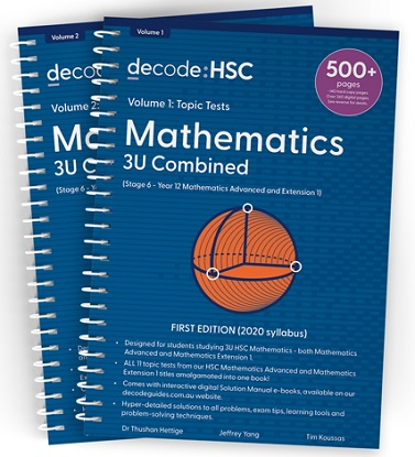 Decode HSC Mathematics 3 Unit Combined Volume 1 Topic Tests