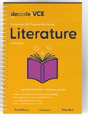 Decode VCE Literature Units 3 & 4