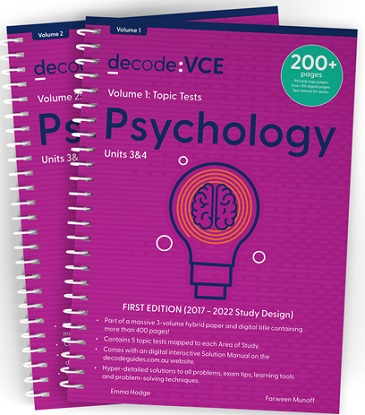 Decode VCE Psychology Units 3 & 4 Volume 1 Topic Tests