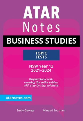ATARNotes:  Business Studies - Topic Tests NSW Year 12 2021-2024