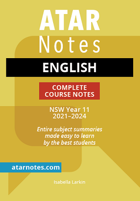 ATARNotes:  English - Complete Course Notes NSW Year 11 2021-2024